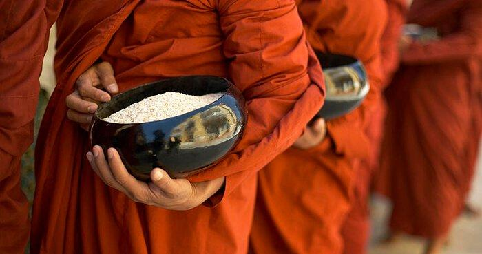 The Buddha, monks and nuns did not own anything except their three robes and one bowl